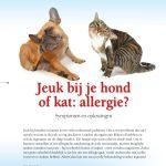 Jeuk bij je hond of kat: allergie?